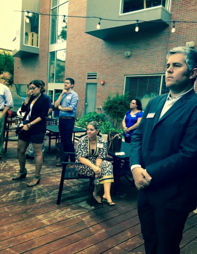 Aspiring City Councilman Jimmy Flannigan at our latest Austin Gathering...poised and ready to lead.