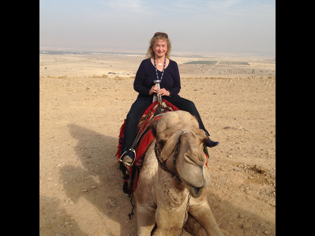 Riding on a camel in the #Jordan Valley 2012