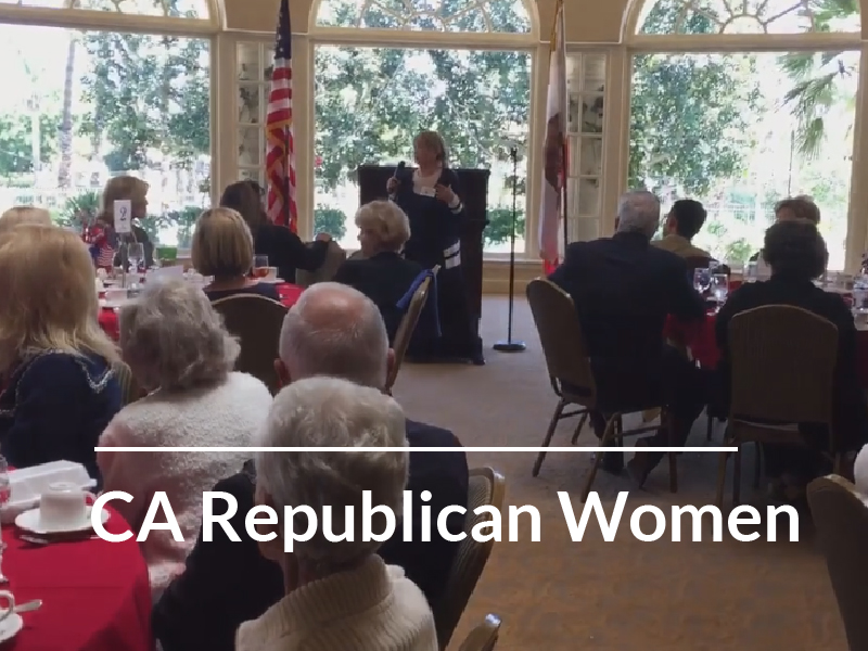 """California Republican Women Federated – 04-17-18 """"Aging with Gusto"""""""