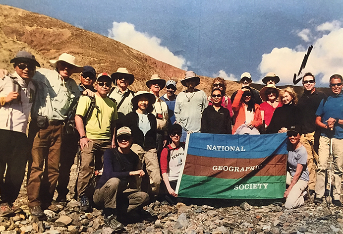 Dr. Miller at Base Camp with National Geographic Society Group