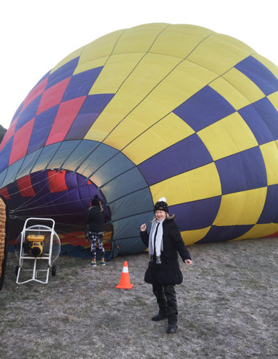 Getting ready for a Hot Air Balloon ride in New Zealand