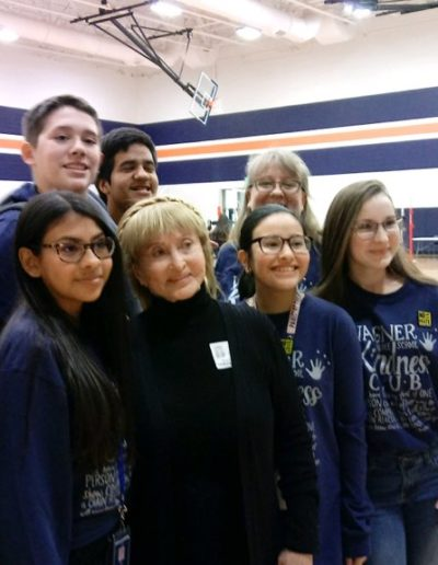 Members of the Kindness Club with Dr. Erica Miller