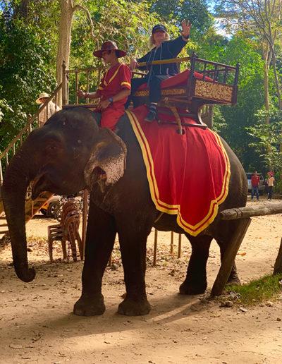 Elephant ride, Cambodia December 2018