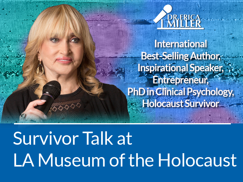 For Immediate Release: Holocaust Survivor gives her Survivor Talk at Los Angeles Museum of the Holocaust