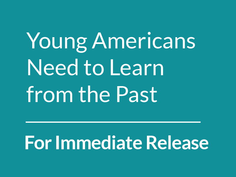 For Immediate Release: Dr. Erica Miller, Holocaust Survivor, Urges Young Americans to Learn from the Past