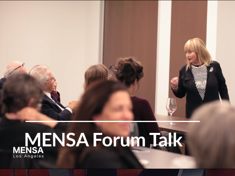 MENSA Forum Talk • Dr. Erica Miller – 5-11-2016
