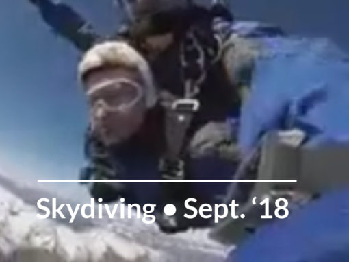 SKYDIVING Dr. Erica Miller, September 2018