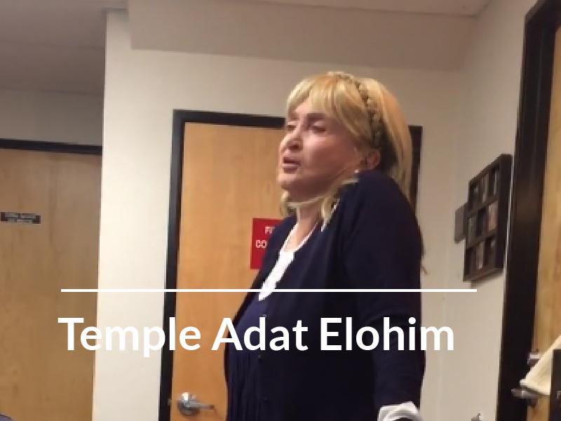 TEMPLE ADAT ELOHIM • Dr. Erica Miller – 10-16-18