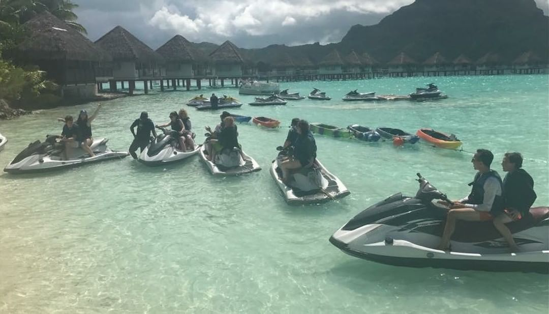Staying healthy, active and living with gusto (Bora Bora)