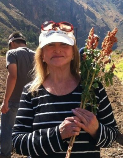 Dr. Miller in Peru with flowers