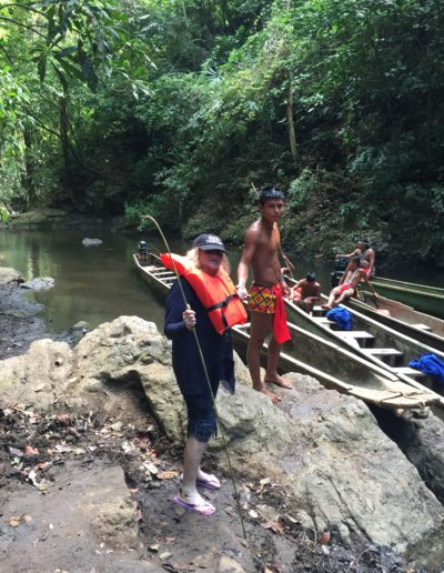 Panama Canal in the Wilderness with natives outside Panama City