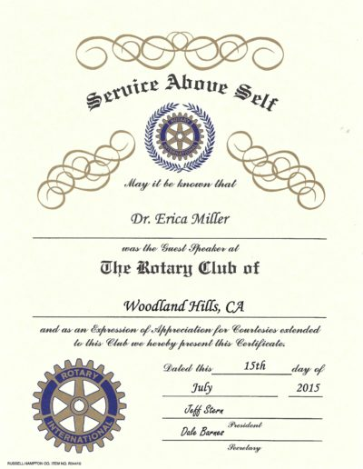 The Rotary Club of Woodland Hills, CA