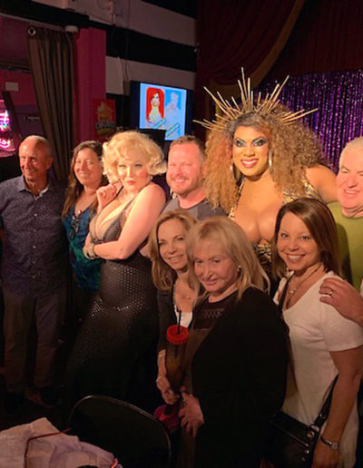 Hanging out with some good friends at Hamburger Mary's in West Hollywood.