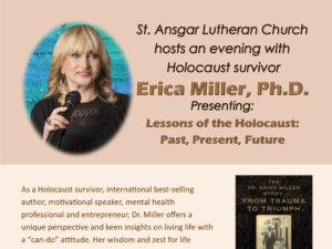 An Evening With Dr. Erica Miller - Lessons of the Holocaust: Past, Present & Future @ St. Ansgar Lutheran Church