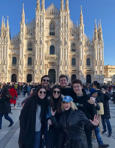 Grandkids and extended tribe in Milan, Italy, December 2019