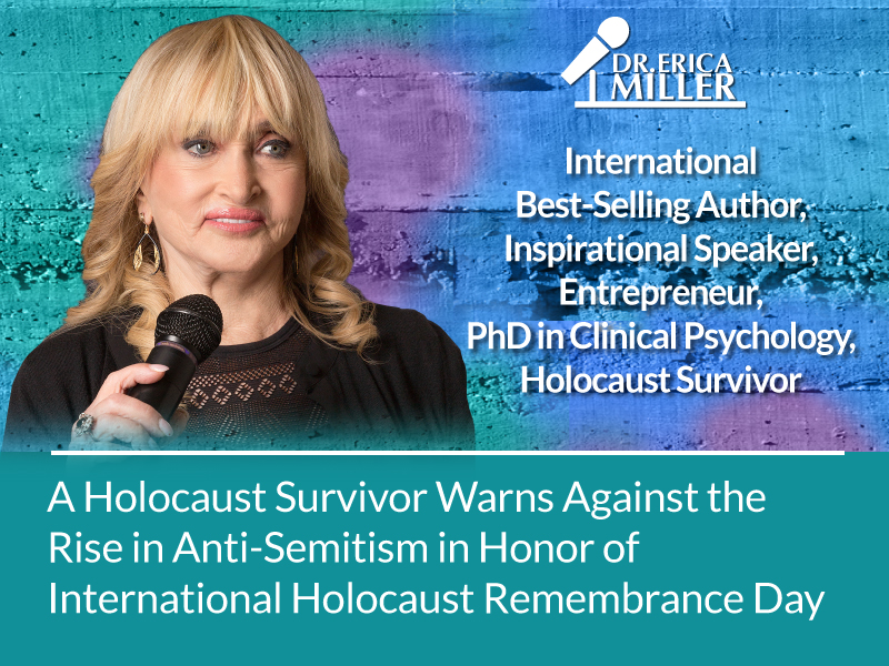 A Holocaust Survivor Warns Against the Rise in Anti-Semitism in Honor of International Holocaust Remembrance Day