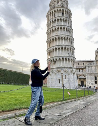 Dr. Miller attempts to stabilize the Leaning Tower of Pisa, December 2019