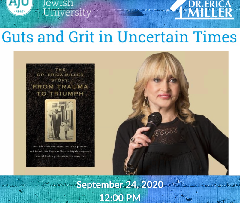 Guts and Grit in Uncertain Times- Interview with American Jewish University Rabbi Cheryl Peretz